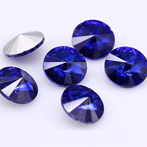 Todos los tamaños, 24 colores Rivoli, redondo, elegante, piedra, espalda puntiaguda, cristal,...
