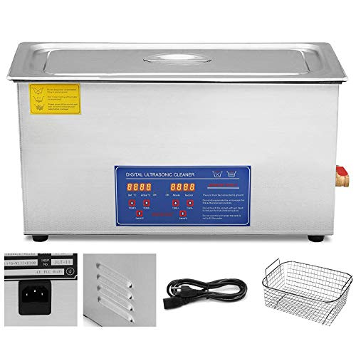 VEVOR Ultrasonic Cleaner 22L Commercial Ultrasonic Cleaner Total 1080W for Cleaning Eyeglasses Rings Large Capacity Heated Ultrasonic Cleaner (22L, 1080W)