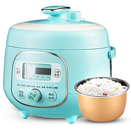 Elektrische snelkookpan, 2L snelkookpannen mini fornuis, pot multifunctioneel, 8 menu, stoven/koken/baby pap, 24-uurs timer