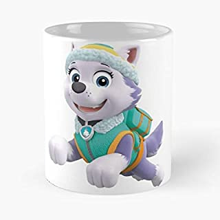 Paw Patrol Everest Jumping Classic Mug - The Funny Coffee Mugs For Halloween, Holiday, Christmas Party Decoration 11 Ounce White Jamestrond.