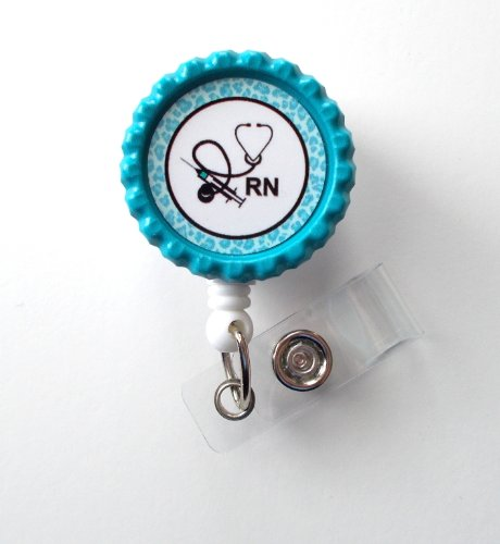 RN Nurse Stethoscope - Nursing Badge Reel - RN Badge - Nurse Badge Holder - Cute ID Badge - Retractable ID Badge Reel