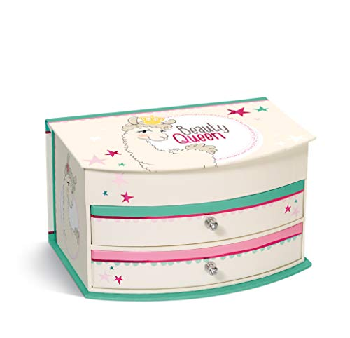 NICI 43590 Schmuckbox Lama Beauty Queen, 14 x 19,5 x 11 cm, bunt