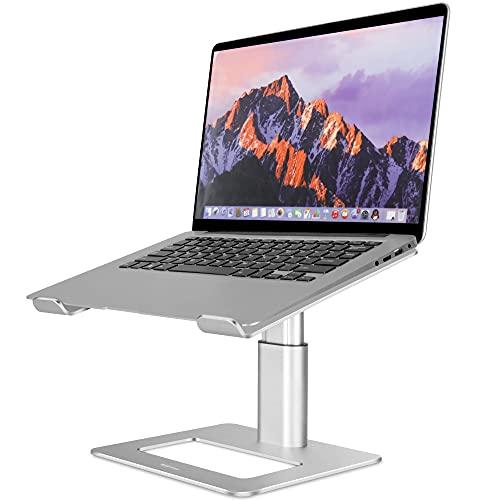 TopMate Soporte para Computadora Portátil de Oficina Escritorio, Elevador de Aluminio de Altura Ajustable para Computadora Portátil de hasta 17.3 Pulgadas, para MacBook, HP, DELL, Lenovo - Plata