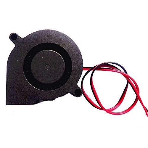 JRUIAN Accesorios de impresora 5 unids 24 V Dc 0.1 A 50 Mm50 Mm15 Mm Ventilador de refrigeración radial para impresora 3D