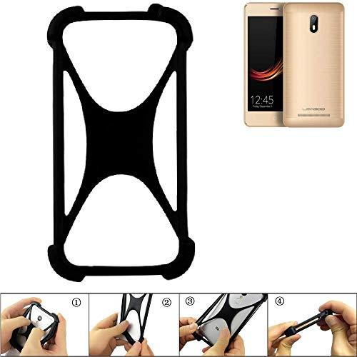 K-S-Trade® Handyhülle Für Leagoo Z6 Schutz Hülle Silikon Bumper Cover Case Silikoncase TPU Softcase Schutzhülle Smartphone Stoßschutz, Schwarz (1x),