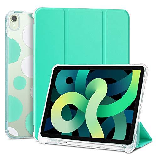 ULAK Funda Compatible para iPad Air 4, Carcasa para Pencil Función Despertador Automático Magnético y Sueño Smart Cubierta Trifold Soporte Caso para iPad Air 4ª Generación 10,9 Pulgada - Menta
