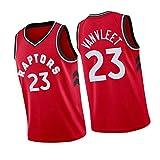 Camiseta de baloncesto Van Felite Raptors 23# Ball Jersey, sin mangas, sudadera de fitness transpirable, traje de entrenamiento americano rojo-XXL