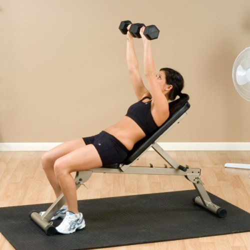 Body-Solid weight bench incline position