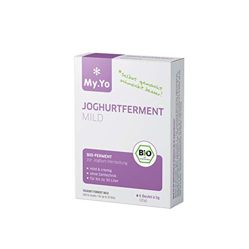 My.Yo - Fermenti biologici per yogurt delicato | 6 x 5 g | Fermenti per la preparazione di massimo 30 l di yogurt