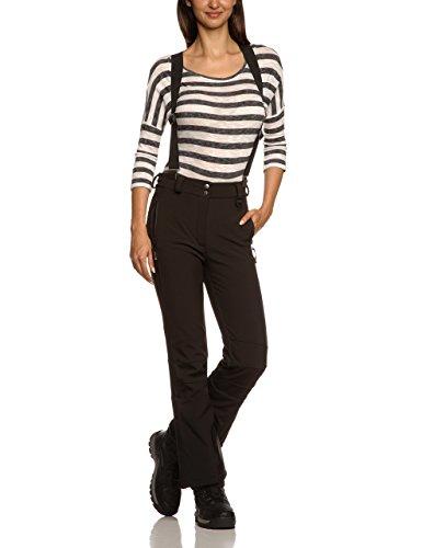Killtec Damen Soft Shell Hose mit Abnehmbaren Trägern und Kantenschutz Natalya KG, Schwarz, 22