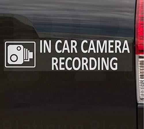 2 x externe 200 x 43 mm-En voiture caméra enregistrement autocollants Alarme blanc sur plaque -CCTV clipser Motif Van, Camion, Bus Taxi, camion, Mini cabine, Minicab de la sécurité et de la sûreté