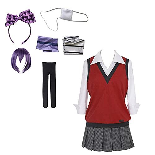 WPYY Anime Yumeko Jabami Cosplay Uniform,Mantel mit modische perücke Socken,Outfit Kleid für Karneval Geburtstag Party Frauen-Sheng Shima Wang_S