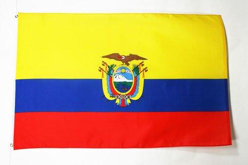 AZ FLAG Flagge Ecuador 150x90cm - EKUADORIANISCHE Fahne 90 x 150 cm feiner Polyester - flaggen