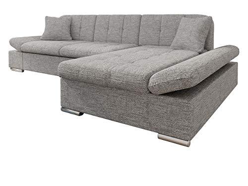 Mirjan24 Ecksofa Malwi mit Regulierbare Armlehnen Design Eckcouch mit Schlaffunktion und Bettkasten, L-Form Sofa vom Hersteller, Couch Wohnlandschaft (Lawa 05, Ecksofa: Rechts)