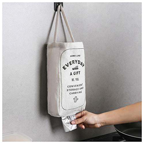 Mikilon, porta sacchetti di plastica impermeabile da appendere alla parete, dispenser per sacchetti della spazzatura in plastica e dispenser Infradito colorati estivi, con finte perline