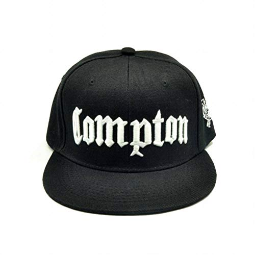 CWH-hat Compton Snapback M/änner Street Dance Hip Hop M/ütze Jugend Street Dance Baseballm/ütze Wei/ß einstellbar