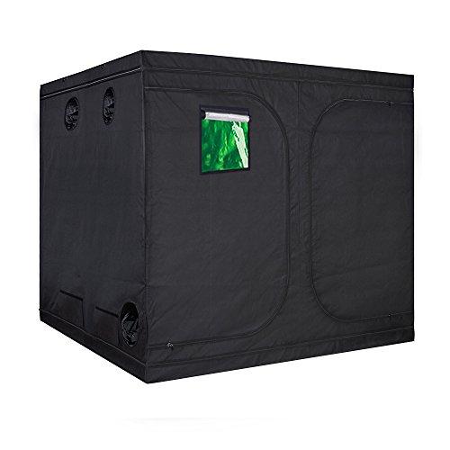 "Oppolite Hydroponic 96""X96""X80"" Grow Tent Room for Indoor Plant Growing/Green View Window Metal Corners, 8'X8'(96""X96""X80"")"