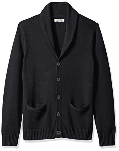 Marca Amazon – Goodthreads – Cárdigan de algodón suave para hombre, Negro (solid black Blk), US XS (EU XS)