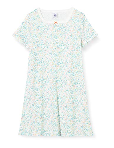 Petit Bateau 5347601 Camicia da Notte, Multicolore (Marshmallow/Multico Bfq), 4 Anni Bambina