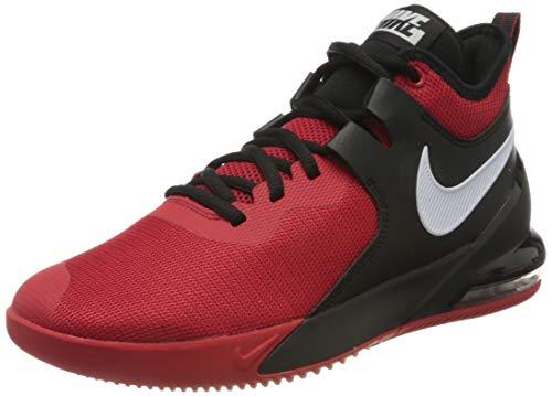 Nike Mens AIR MAX Impact Basketball Shoe, University Red/White-Black, 47 EU
