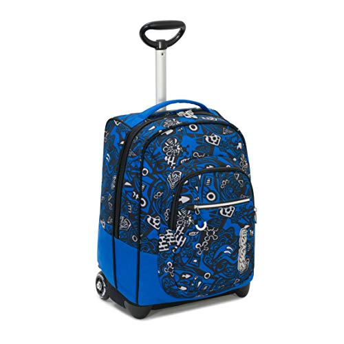 TROLLEY SEVEN - Blu Arancione - 35 LT Scuola e viaggio - Crossover System