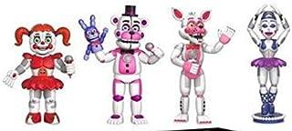 5泊フレディフィギュアFNAFアクション置物Bonnie Foxy Freddy Fazbear Bear Dols PVCモデルキッズトイズ