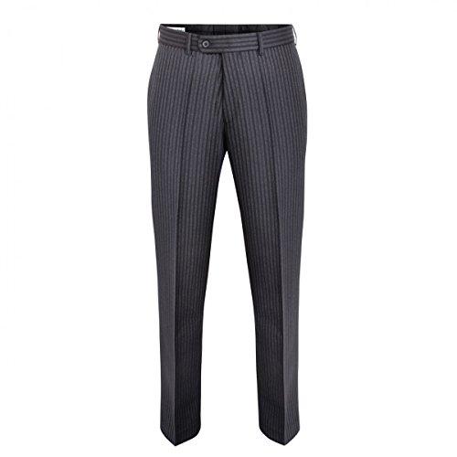 Hammerschmid Herren Trachten-Mode Lange Stresemannhose in Schwarz traditionell, Größe:46, Farbe:Schwarz