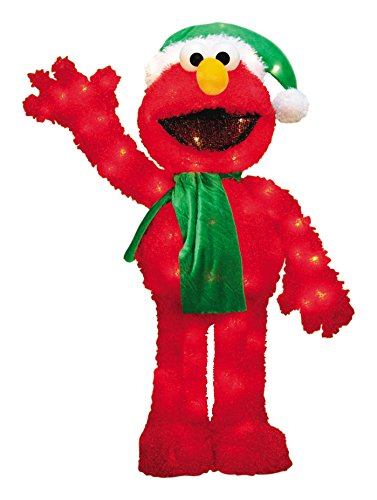 ProductWorks 32-Inch Pre-Lit 3D Sesame Street Waving Elmo ...