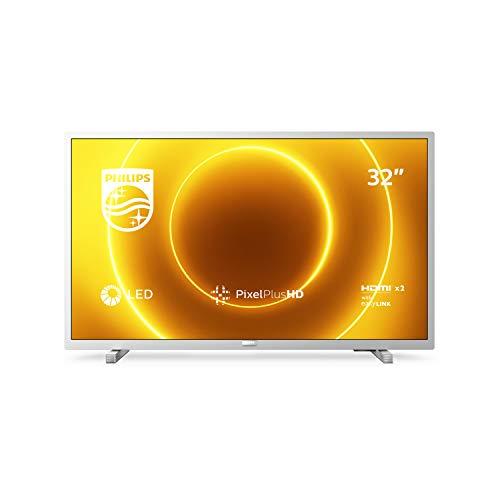 Philips TV 32PHS5525/12 32-Zoll-LED-Fernseher (Pixel Plus HD, Full-Range-Lautsprecher, 2 x HDMI, USB) Mittelsilber [Modelljahr 2020]
