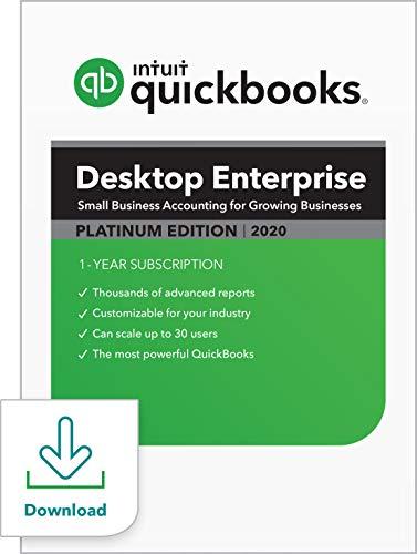 QuickBooks Desktop Enterprise Platinum 2020 Accounting Software for Business - 5 User [PC Download]