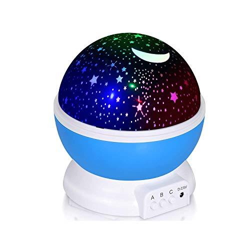 Adoric Proyector Lámpara De Dormir Lámpara Infantil Lámpara Proyector Infantil 360 Grados...