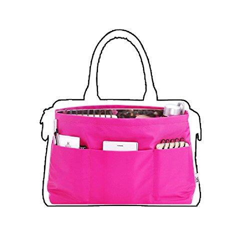 Porte-sacs à main sacoche Organiseur Organisateur d'insertion Tidy Travel Cosmetic Pocket Makeup Bag, rose red