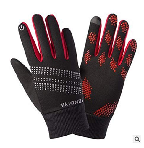 Waterproof Couple Ski Gloves Winter Warm Snowboard Snowmobile Cold Weather Gloves Women's Men's Lined Waterproof Outdoor Ski Glov Anti-Slip Cycling Gloves for Men Women ( Color : Blue red , Size : L )