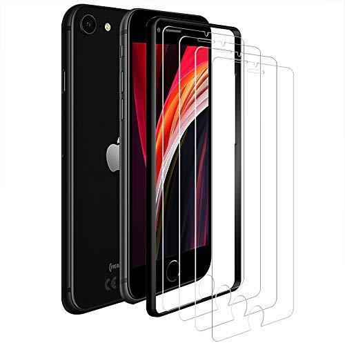 ANEWSIR 4 Stück Panzerglas Kompatibel mit iPhone SE 2020/8 / 7/6 / 6S Schutzfolie Displayschutzfolie, [ohne Luftblasen] [Anti-Kratzer], Displayschutz Panzerglasfolie Folie.