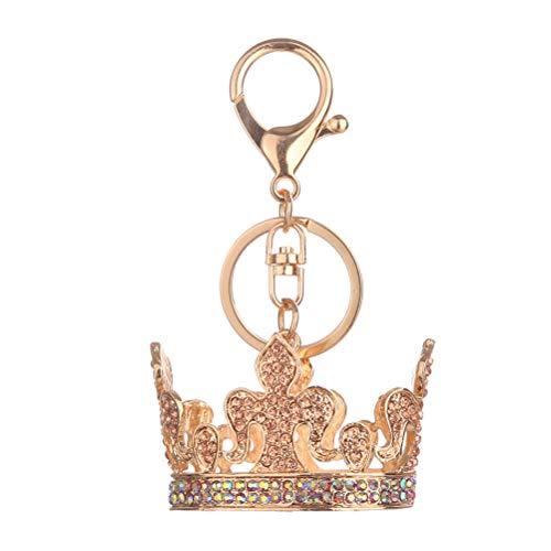 Fenical Metall Schlüsselbund Königin Krone Kristall Schlüsselanhänger mit Quaste Handtasche Bag Charm Dekoration