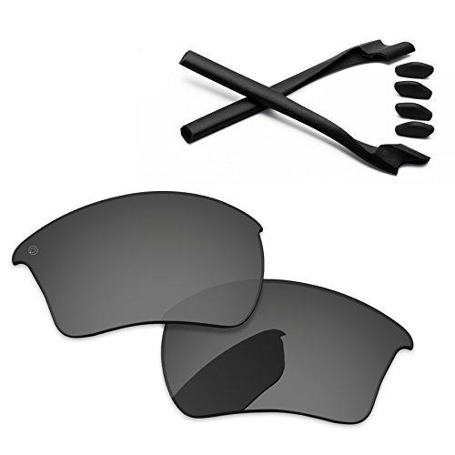 PapaViva Pro+プロ偏光の交換用レンズとゴムキットOakley Half Jacket 2.0 XL 黒イリジウム