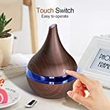 Ultrasonic Essential Oil Diffuser - 7 Color Therapeutic LED Lights & Waterless Auto Shut-Off - Relaxing Cool Mist Humidifier - Enjoy Calming Fragrances at Home & Office (Brown)