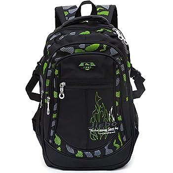 School Backpack for Boys School Bag Elementary School Bookbag For Kids Backpack Boys Casual Daypack Green