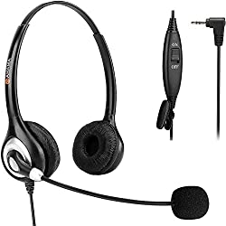 commercial 2.5mm headset with noise canceling microphone and mute switch Very comfortable headset … phone cordless headsets