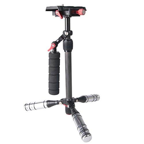 DACHENGJIN Stabilizzatore Letspro Regolabile in fibra di carbonio Dispositivo di scorrimento Stabilizzatore professionale for fotocamera/DV/DSLR/Video