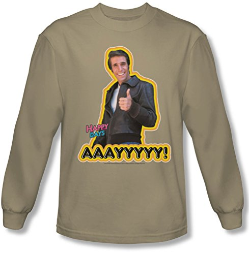 Happy Days - Aaayyyyy shirt manches longues Homme dans le sable, Large, Sand