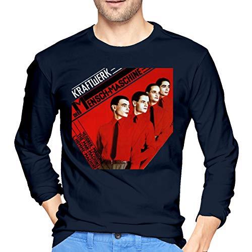 Men's Kraftwerk Man Machine Long Sleeve T-shirt, Navy, S to XXL