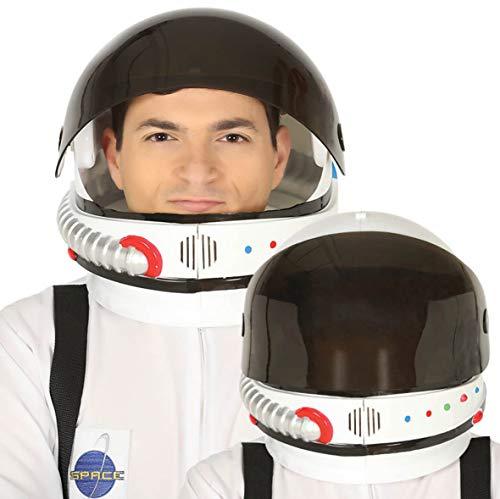 Generique - Helm für Astronauten Zubehör für Erwachsene Weiss-schwarz