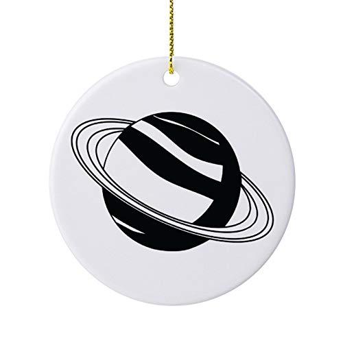 qidushop Decoración de Navidad con diseño de planeta verde y negro, de...