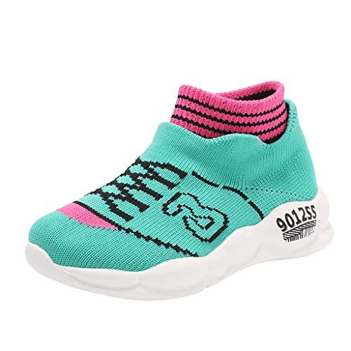 H.eternal(TM) Zapatillas de deporte para niños con malla transpirable para niños y niñas
