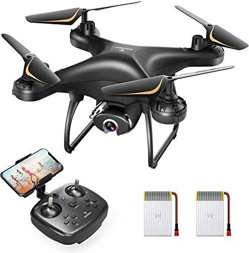 SNAPTAIN SP650 1080P Dron con cámara para adultos para principiantes con control de voz, control por gestos, vuelo circular, rotación de alta velocidad, mantenimiento de altitud, modo sin cabeza