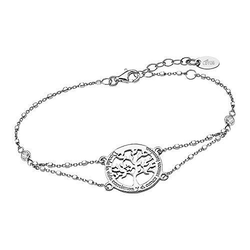 Lotus Silver Pulsera con árbol de la vida LP1641-2/1 de plata de ley 925 JLP1641-2-1