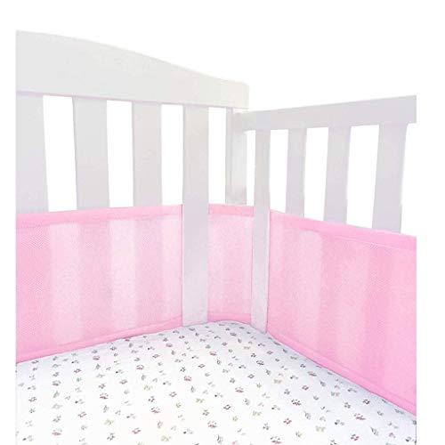 Protector Cuna, Cobertor De Cuna Transpirable De 360 ° Envolvente Alrededor De ProteccióN Para Cama De Bebé