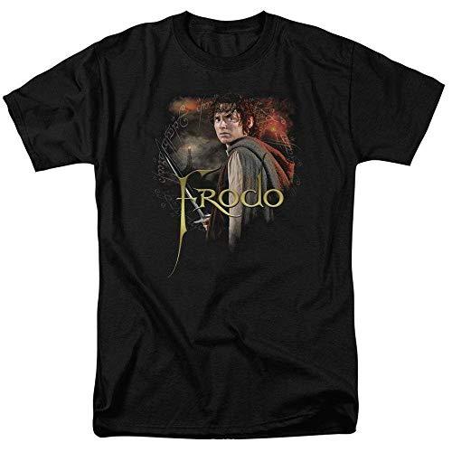 Lord of The Rings Frodo Baggins Ring Bearer Elijah Wood Graphic t-Shirt Black