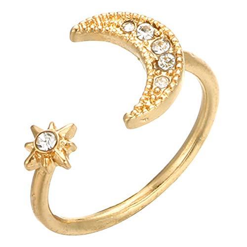 Star And Moon Stack Fairy Tale Fashion Verstelbare ring met kleine diamanten decoratieringen voor tienermeisjes Goedkope ringen Love Ring Verstelbare ringen The Stars And The Moon Ringen voor dames